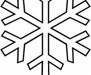 Free coloring and drawings Maternal Snowflake Coloring page