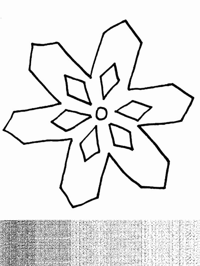 Free coloring and drawings Shining snowflake Coloring page