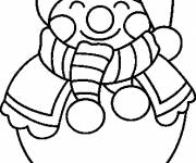 Free coloring and drawings Smiling Snowman Coloring page