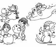 Coloring pages Snow christmas
