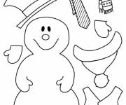 Coloring pages Snow Clothes