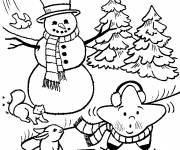 Coloring pages Snow in winter