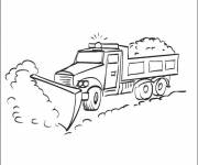 Coloring pages Snow plow
