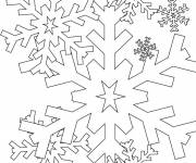 Free coloring and drawings Snowflake coloring Coloring page