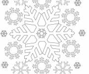 Free coloring and drawings Snowflake everywhere Coloring page