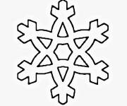 Coloring pages Snowflake for children