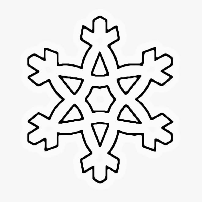 Free coloring and drawings Snowflake for children Coloring page