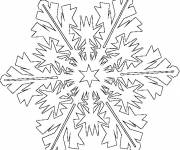 Coloring pages Snowflake in style