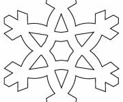 Coloring pages Snowflake to cut