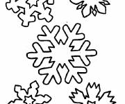Coloring pages Snowflake to decorate