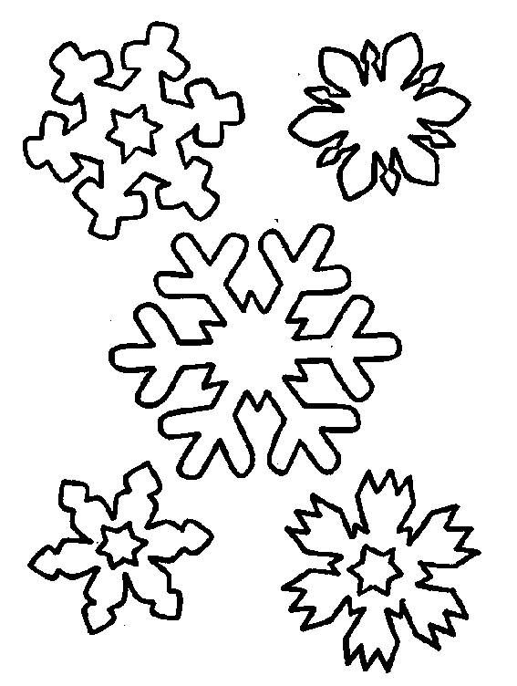 Free coloring and drawings Snowflake to decorate Coloring page
