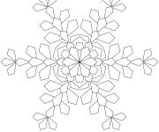 Coloring pages Snowflake to download
