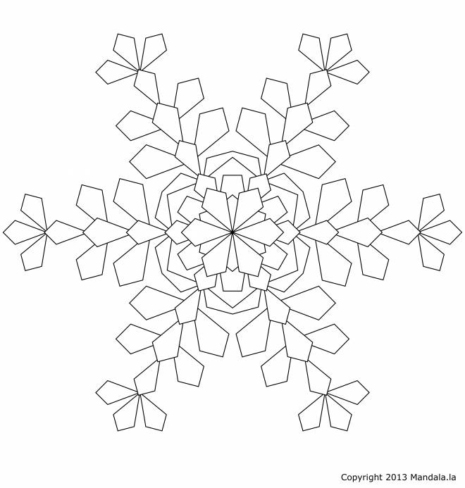 Free coloring and drawings Snowflake to download Coloring page
