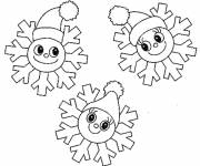 Coloring pages Snowflake tops