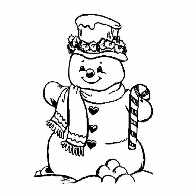 Free coloring and drawings Snowman Coloring page