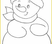 Free coloring and drawings Stylized Snowman Coloring page