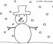 Free coloring and drawings Winter Snowman Coloring page