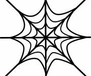 Coloring pages Artistic spider web