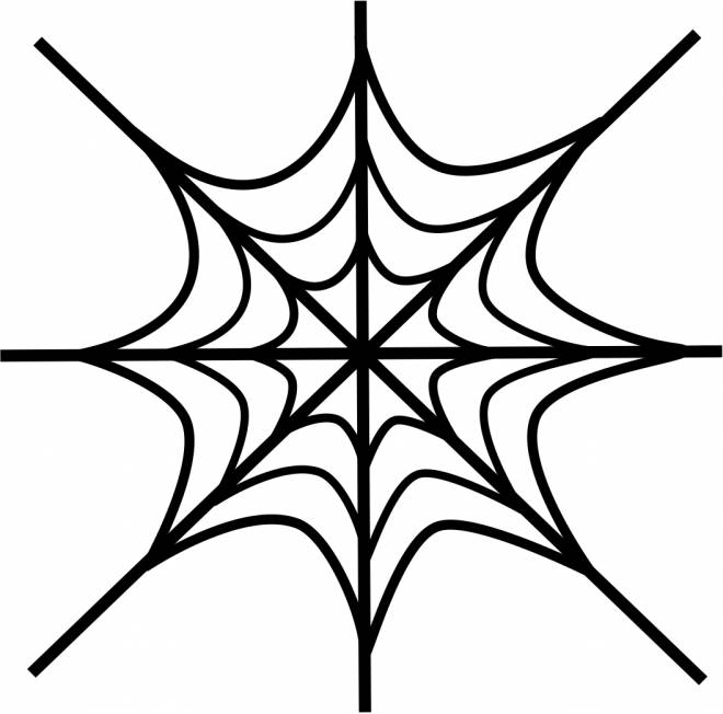 Free coloring and drawings Artistic spider web Coloring page