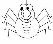 Free coloring and drawings Comic spider Coloring page