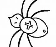 Coloring pages Cross spider