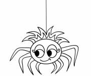 Free coloring and drawings Cute spider Coloring page