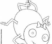 Coloring pages Happy spider