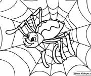 Coloring pages Happy spider to color
