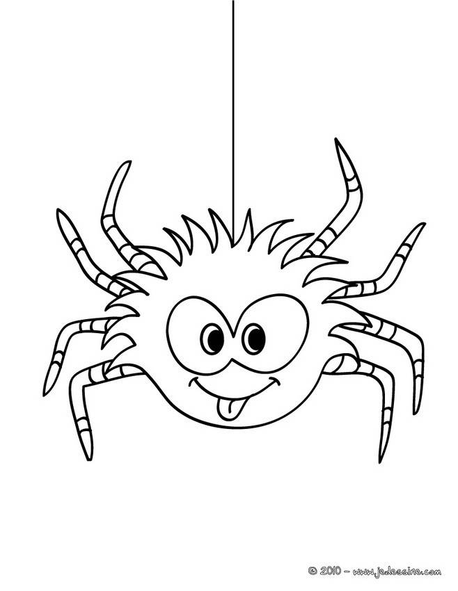 Free coloring and drawings Hilarious spider Coloring page
