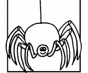 Coloring pages Joyful spider