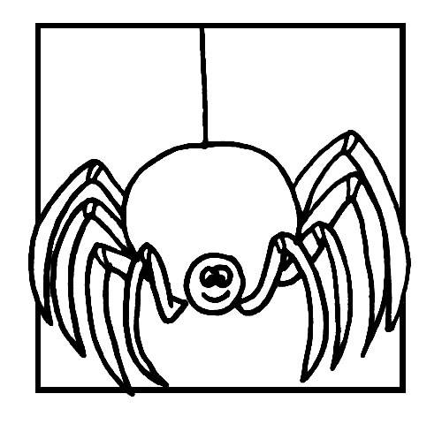 Free coloring and drawings Joyful spider Coloring page