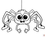 Free coloring and drawings Laughing spider Coloring page