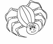 Coloring pages Smiling spider