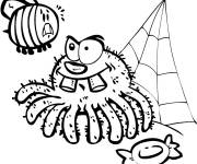 Coloring pages Spider and Fly