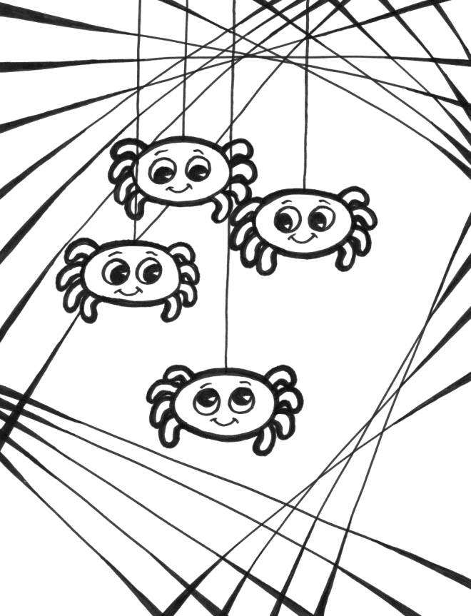 Free coloring and drawings Spider Babies Coloring page