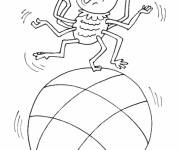 Coloring pages Spider on the ball