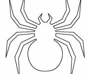 Coloring pages Spider to complete