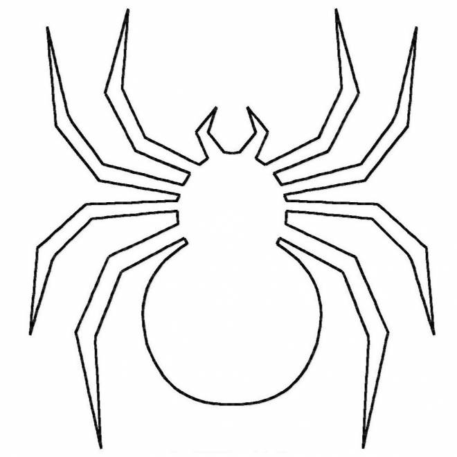 Free coloring and drawings Spider to complete Coloring page