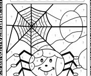 Free coloring and drawings Spider web Coloring page