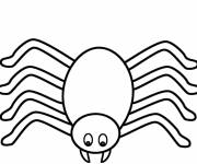Coloring pages Stylized spider