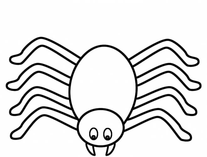 Free coloring and drawings Stylized spider Coloring page