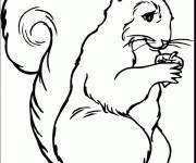 Coloring pages Funny Squirrel
