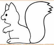 Coloring pages Squirrel is working