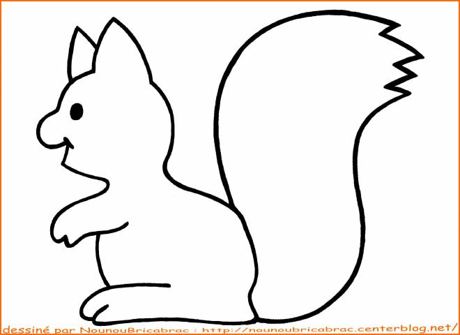 Free coloring and drawings Squirrel is working Coloring page