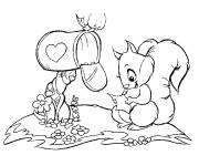 Coloring pages Squirrel laughs