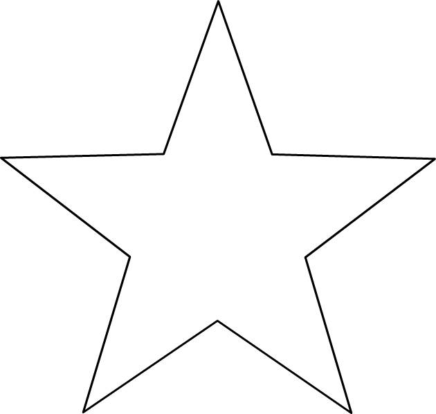 Free coloring and drawings 5-pointed star Coloring page