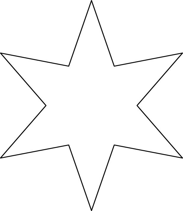 Free coloring and drawings 6-pointed star Coloring page