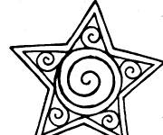 Coloring pages Artistic star