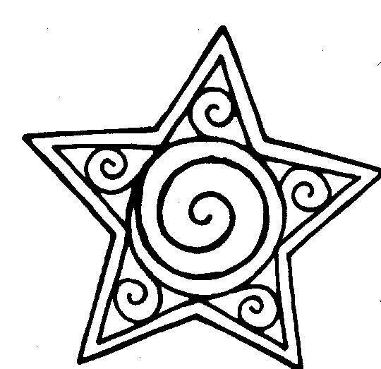 Free coloring and drawings Artistic star Coloring page