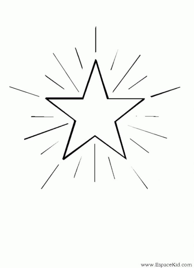 Free coloring and drawings Bright star Coloring page